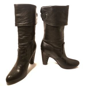 Frye Bethany Cuff Shortie black all leather